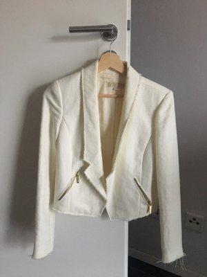 Michael Kors Blazer creme weiß Größe 0 XS 34 Tweed Boucle