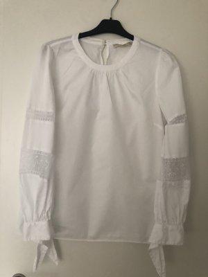 Michael Kors Blouse à manches longues blanc coton