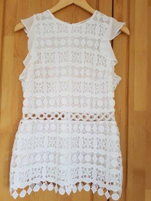 Michael Kors Koronkowa bluzka biały