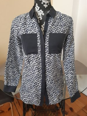 Michael Kors Zijden blouse blauw-wit