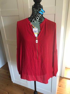 Michael Kors Bluse Top Shirt   Rot Gold  M 38 8