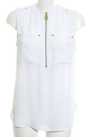 Michael Kors Bluzka bez rękawów biały-złoto Poliester