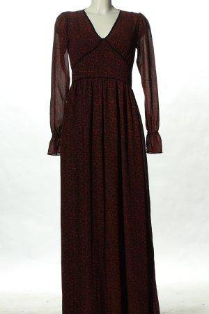 Michael Kors Blusenkleid schwarz-rot Allover-Druck klassischer Stil