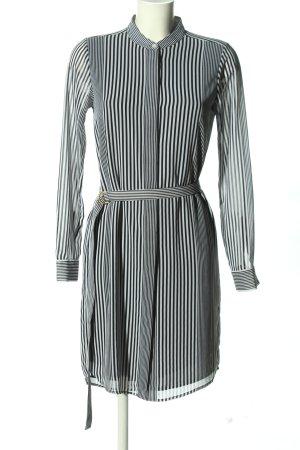 Michael Kors Blusenkleid schwarz-weiß Streifenmuster Casual-Look
