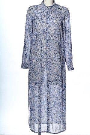Michael Kors Blusenkleid blau-wollweiß Allover-Druck Casual-Look