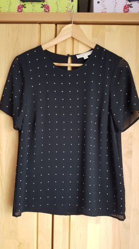 Michael Kors Short Sleeved Blouse black-gold-colored
