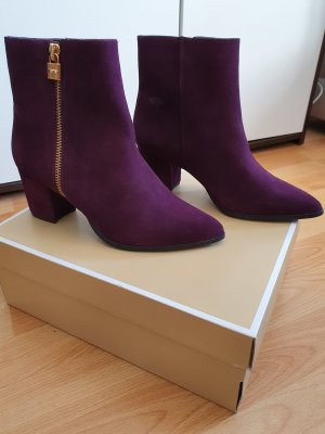Michael Kors Booties Stiefeletten neu lila gold ankle boots