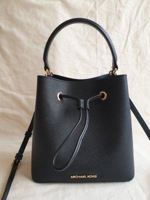 Michael Kors Bucketbag Beuteltasche Umhängetasche Schwarz Leder