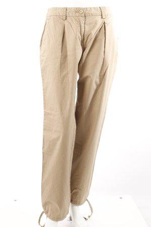 Michael Kors Spodnie z zakładkami beżowy Bawełna