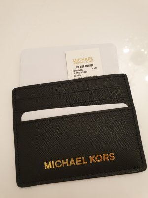 Michael Kors Tarjetero negro-color oro