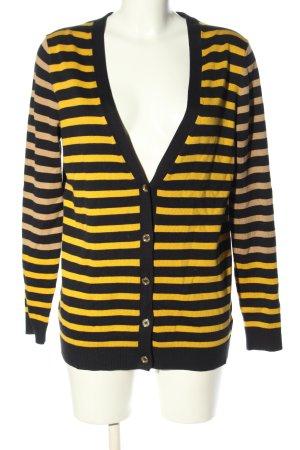 Michael Kors Kardigan czarny-bladożółty Wzór w paski W stylu casual