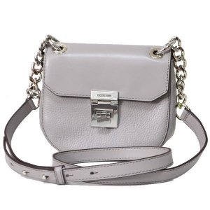 Michael Kors Cecelia Mini Saddle Bag Gray