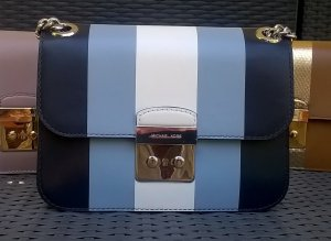 Michael Kors Center Stripe blau/weiß -Original-