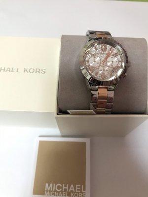 Michael Kors Orologio con cinturino di metallo argento-color oro rosa