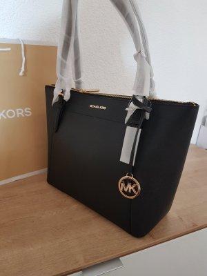 Michael Kors ciara Schwarz Gold Shopper Tasche Handtasche Leder neu