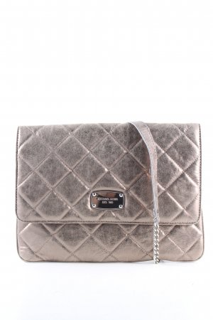 Michael Kors Clutch silberfarben Steppmuster Casual-Look
