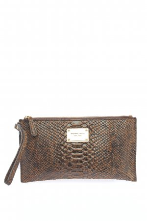 Michael Kors Clutch braun-schwarz Allover-Druck Casual-Look