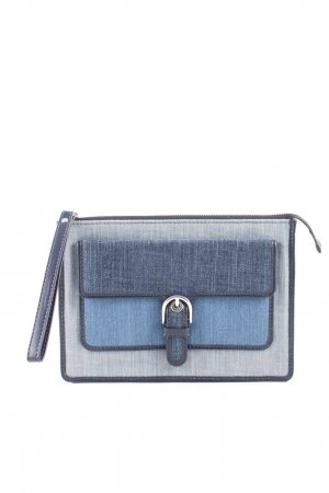 Michael Kors Clutch blau-hellgrau meliert Business-Look
