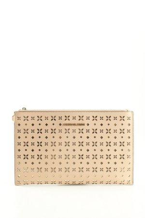 Michael Kors Borsa clutch crema stampa integrale stile casual