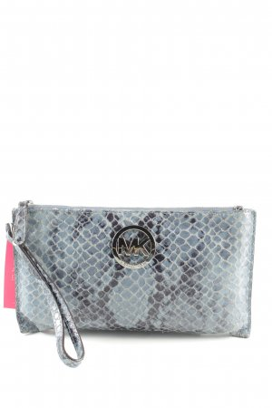Michael Kors Clutch blau-schwarz Animalmuster Casual-Look