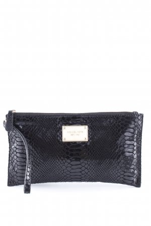 Michael Kors Clutch schwarz Animalmuster Business-Look