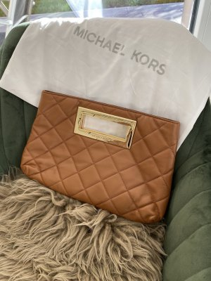 Michael Kors Clutch einzigartig braun/cognac