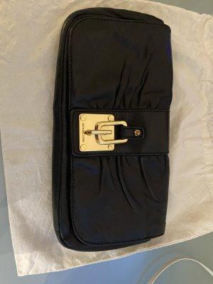 Michael Kors Clutch schwarzes Leder Tasche