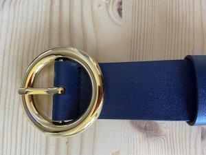 Michael Kors Leather Belt steel blue-blue leather