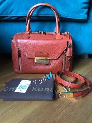 Michael Kors Collection Tasche Gia Top Zip Tangerine Orange Gold