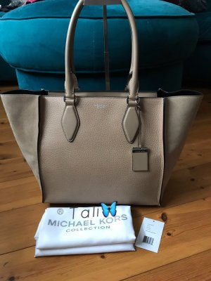 Michael Kors Collection Tasche Gracie Large LG  Farbe: Dune Beige Silber