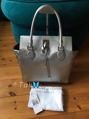 Michael Kors Collection Tasche Miranda Gusset Quilted Silber Silver