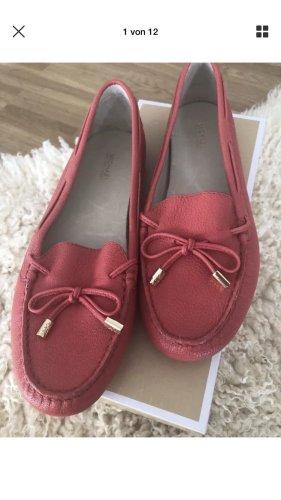 Michael Kors Daisy Mokassin Watermelon Leder Flat Schuhe DE 40 9M NEU OVP