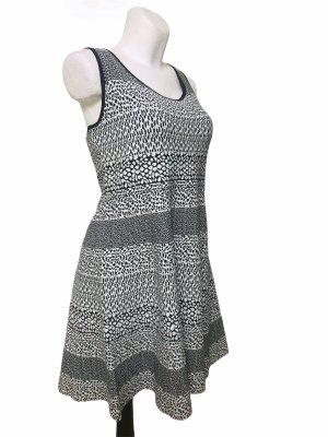 Michael Kors Damen Kleid Schwarz Weiß XL