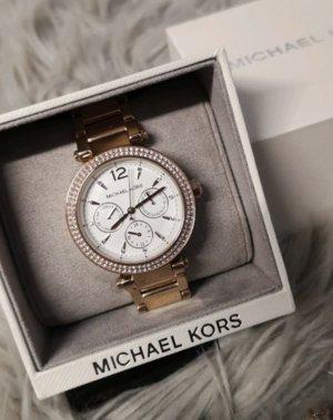 Michael Kors Damen Uhr Armbanduhr Gold Rose weiß MK5781