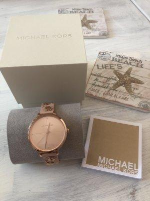 Michael Kors Damen Uhr mit Blumen Leder Band neu 269€