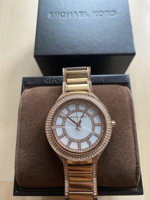Michael Kors Damen Uhr Rosegold MK3313 mit Strass mit Geschenkkarton