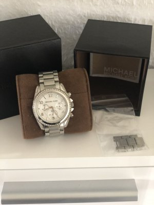 Michael Kors Self-Winding Watch silver-colored-white