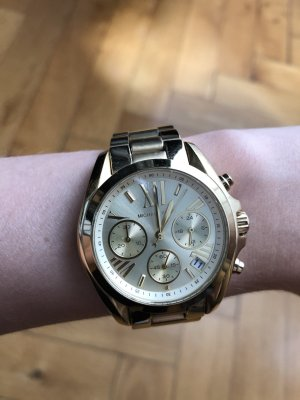 Michael Kors Damenuhr Chronograph gold matt glänzend