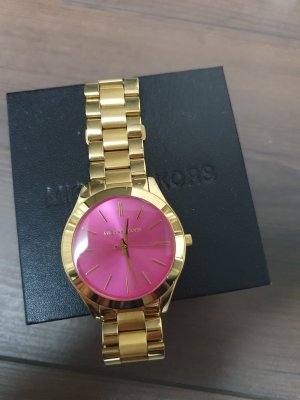 Michael Kors Montre analogue doré-rouge framboise