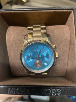 Michael Kors Analog Watch gold-colored-turquoise