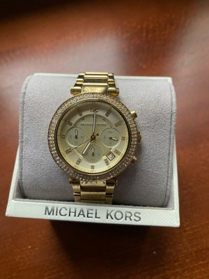 Michael Kors Watch With Metal Strap sand brown