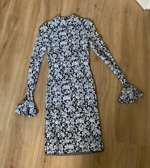 Michael Kors Designerkleid Kleid Partykleid Party Volantsärmel Volant eng figurbetont