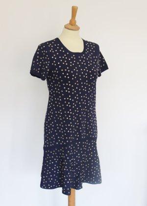 Michael Kors Dunkelblaues Kleid mit goldenen Herz Nieten M