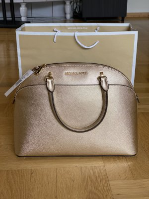 Michael Kors Emmy Large Dome Satchel Pale Gold *NEU*