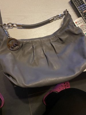Michael Kors Carry Bag dark grey-silver-colored leather