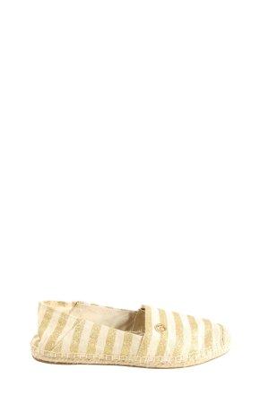Michael Kors Espadryle w kolorze białej wełny-złoto Wzór w paski