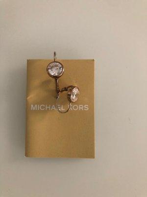 Michael Kors Pendientes de oro marrón grisáceo metal
