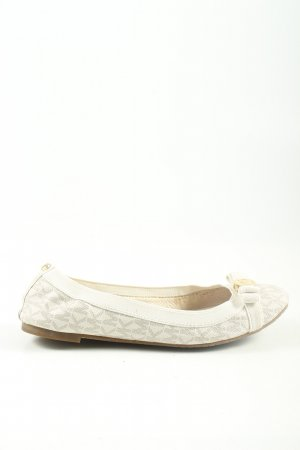 "Michael Kors faltbare Ballerinas ""Dixie Stretch Bow"" wollweiß"