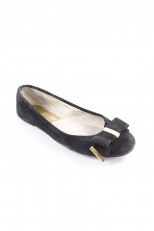Michael Kors faltbare Ballerinas schwarz-goldfarben Street-Fashion-Look