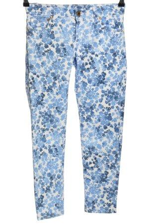 Michael Kors Five-Pocket-Hose blau-weiß Allover-Druck Casual-Look